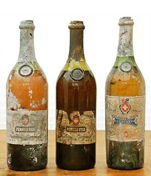 Three Old Absinthe Antique Bottles