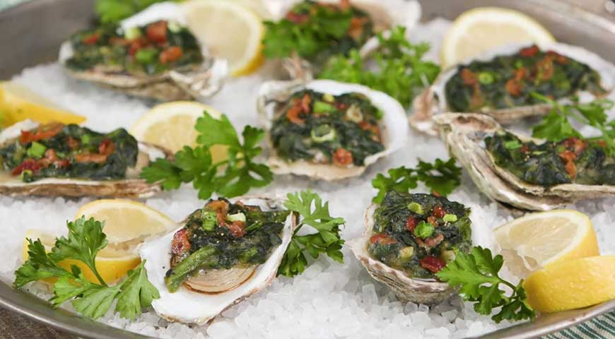 A Classic Absinthe Recipe - Oysters Rockefeller