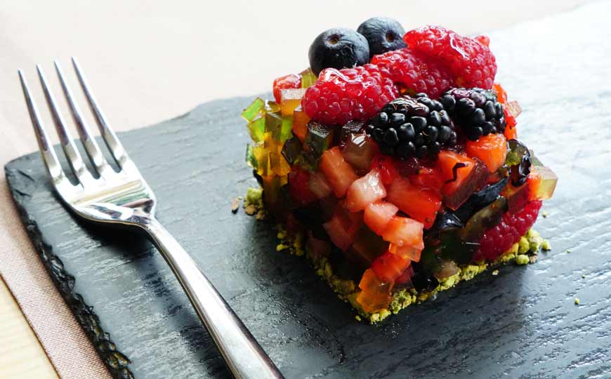 Delicious Dessert with Berries