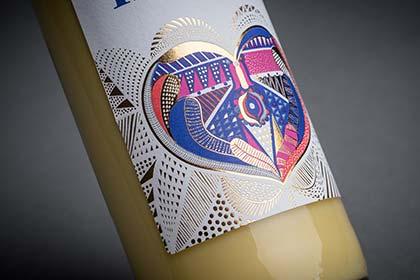 Eggnog liqueur - Detailed Label