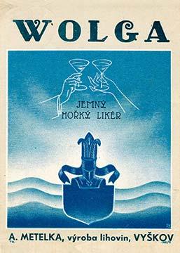Original Label of Wolga Bitter liqueur