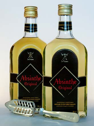 Two bottles of Original Absinthe